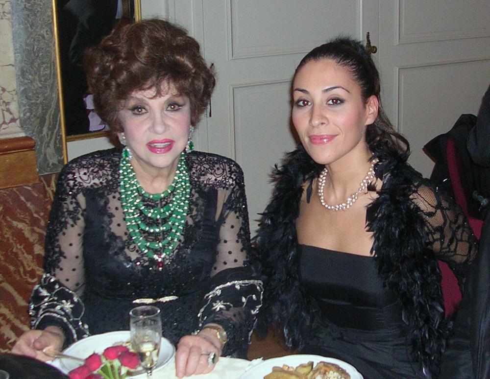 ambasciata algerina con Gina Lollobrigida
