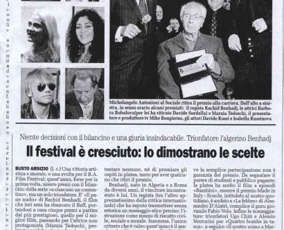 BAFF con M. Antonioni